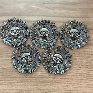 Pirates of the Caribbean 3 in 1 Boardgame REPLACEMENT PIECES 5 Sliver Checkers