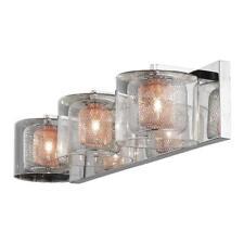 Home Decorators 3-Light Mirrored Stainless Steel Vanity Light