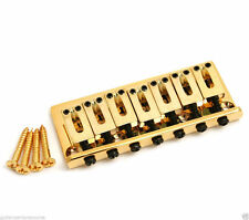 Gold 7-string Fixed Hardtail Guitar Bridge GB-HT7-G