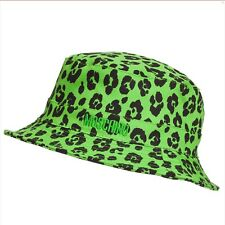 nwt MOSCHINO KID Green Leopard Baby Sun Hat by Jeremy Scott size 58 4-5 years