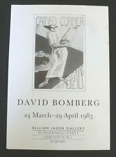 DAVID BOMBERG Gillian Jason Gallery   1983 ART EXHIBITION POSTER
