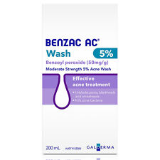 Benzac AC Wash 5% Benzoyl Peroxide Acne Wash 200ml