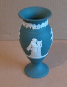 Wedgwood Jasperware Spruce Green Vase