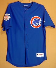 CHICAGO CUBS MIKE QUADE Blue #8 GAME WORN Size 46 Baseball MLB Majestic JERSEY