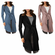 Tie Viscose Patternless Long Jumpers & Cardigans for Women
