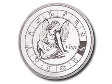 Zodiac Horoscope   Virgo   1 oz .999 Silver BU Round USA Made Bullion Coin