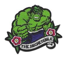 "THE INCREDIBLE HULK IRON ON PATCH 3.5"" Embroidered Applique Superhero Avengers"
