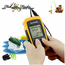Fish Finder 100M Lcd Alarm Sonar Depth Sensor Transducer For All Fishing Types