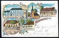 Litho / Lithographie : NEUENHAGEN Neumark, Kr. Königsberg, Gem. Bad Freienwalde
