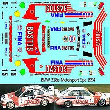 van de poele 1:43 decal Bmw 318tds lease plan L.O racing 24h spa 1997 #25 E