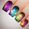 MYSTICAL RAINBOW SNOWFLAKE Christmas Nail Decal Xmas Water Transfer Sticker Tatt