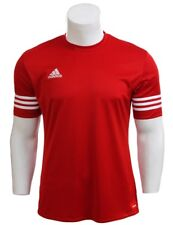 adidas Mens T Shirt Short Sleeve Top Entrada 14 Football Gym Sports Jersey S-2xl Red 2xl