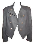 Juicy Couture Military Bolo Bolero Jacket Medium Functional Buttons Halloween!!!