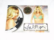 2014 Benchwarmer TALOR MARION Vegas Baby #58 On Card Auto PLAYBOY Fast & Furious