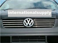 VW T5 Transporter Chrome Front Grill Trim Set 8 pcs 2003-2010 Stainless Steel