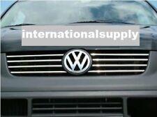 VW T5 TRANSPORTER CHROME griglia frontale trim Set 8 PZ 2003-2010 Acciaio Inossidabile