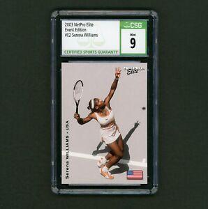 2003 NetPro Elite Event Edition #E2 Serena Williams Rookie CSG 9 Mint