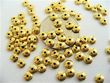 25 Bali Sterling Silver Vermeil Saucer Beads - 3.5mm