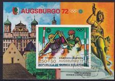 Sport Kanu Augsburg Olympiade 1972 Block Äquatorial Guinea, gest., used