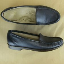 SAS Tripad Comfort US 8.5 N Woman Loafer Slip On Moc Toe Leather