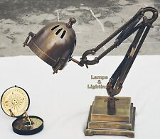 Industrial Machine Age Pipe Steampunk Robot Antqiue Brass Table / Desk Lamp