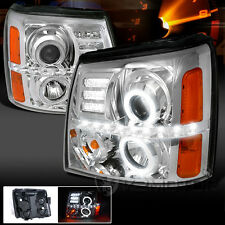 2002-2006 Cadillac Escalade LED+Halo Projector Headlights Left+Right