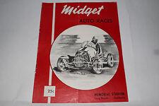 Midget Auto Racing Program Memorial Stadium, Long Beach California July 30, 1952