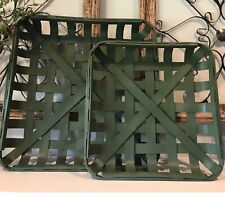 Rustic Green TOBACCO BASKET ~Small Basket Only ~ Farmhouse Chic Decor!