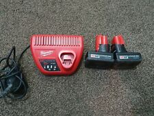Milwaukee, C 12 C, Heavy duty, battery charger and two M12 Lithuim ionbatteries