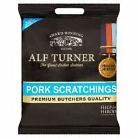 ALF TURNER Pork Scratchings Pork Snack Crisps 70g x 12 Bags Packets