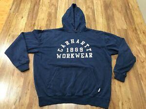 MENS LARGE - Carhartt Logo Hooded Sweatshirt