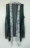 Travelers Collection by Chicos Womens Size 1 Sleeveless Vest Top Blouse EZ Care
