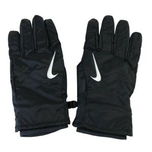 Nike PGF332-001 Coaches Sideline Cold Weather Leather Tech Gloves Black XL