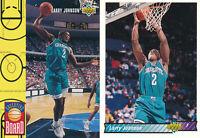 Larry Johnson Lot of 2 different Charlotte Hornets basketball cards