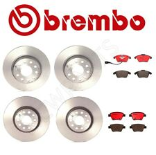 For Audi A3 VW Beetle Front and Rear Disc Brake Rotors Pad & Sensors Brembo Kit