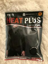 32 Degrees Heat Plus Extra Warm Men's Crew Neck Shirt Base Layer Black Small
