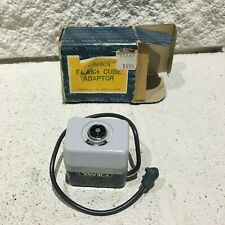 Vintage 1970s YASHICA  Hot Shoe To Flash Cube Converter With PC Cable