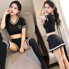 Ladies Sexy School Girl Uniform Costume Lingeria Fancy Dress Cosplay Party L35