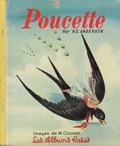 les albums roses Hachette - Poucette d'Andersen - EO 1954