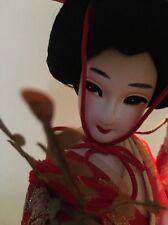 VINTAGE JAPANESE GEISHA CLOTH DOLL WITH SILK KIMONO