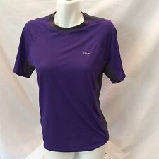 Hind Women's Short Sleeve Athletic Top Size Small  Purple w/Black