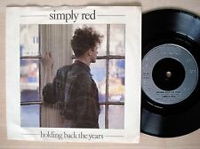 """Simply Red Holding Back The Years A/1 B//1 UK 7"""" WEA YZ 70 1986 EX+"""