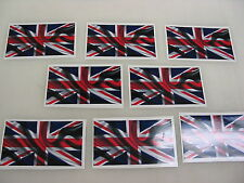 8 BRITISH FLAG Sticker Decal LOT 4 boat car Window Truck suv Wholesale ENGLAND