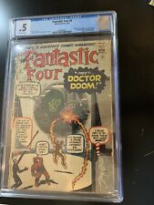 FANTASTIC FOUR #5  CGC .5  FIRST APPEARANCE OF DOCTOR DOOM! Great Investment!!!