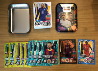 MATCH ATTAX 2020/21 EMPTY MINI TIN + 100 CARDS INC 100 CLUB AND LIMITED
