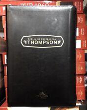 Biblia De Refencia Thompson Negra Con Indice Cierre Reina VALERA  PIEL IMITA1960