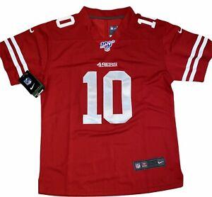 "NWT Women's Nike Jimmy GAROPPOLO #10 XL Jersey, San Francisco 49ers, ""100"" logo."
