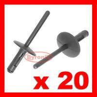 20 X 6mm BMW PLASTIC POP BLIND RIVETS WHEEL ARCH SIDE SKIRT SILL X3 E83  X5  E53