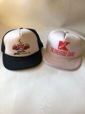 Vintage Kmart Trucker Hat Snap Back Mesh Lot Of 2 Uniroyal The FireHouse Gang