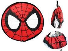 Spiderman storage mat, drawstring bag, clutter solution, toy box, playmat, lego